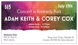 Concert in Kimberly Park