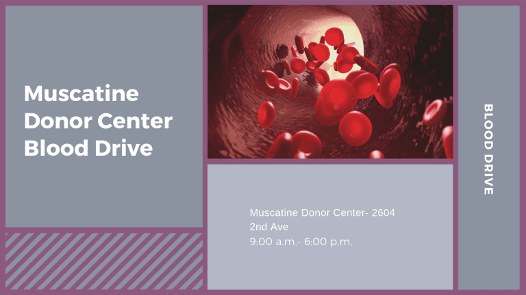 Muscatine Donor Center Blood Drive