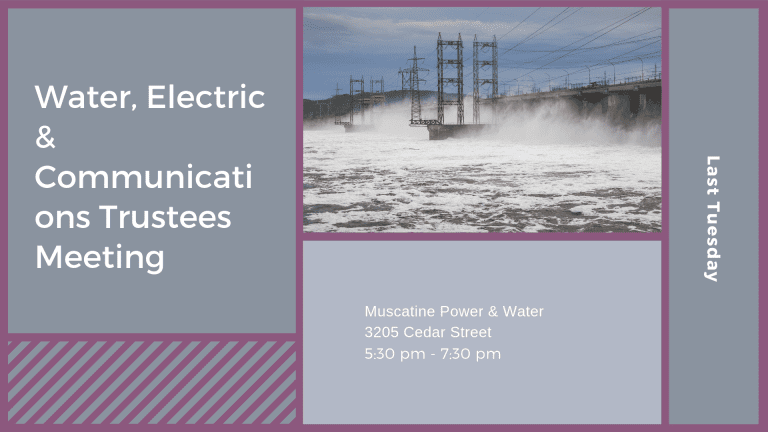 Water, Electric & Communications Trustees Meeting