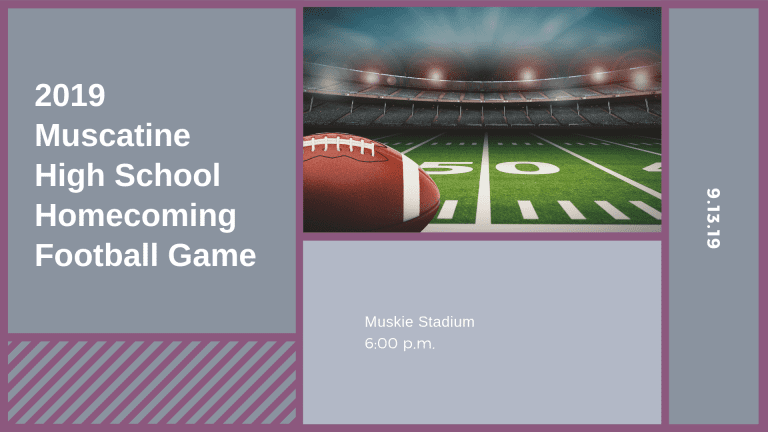 Muscatine High School Homecoming Football Game