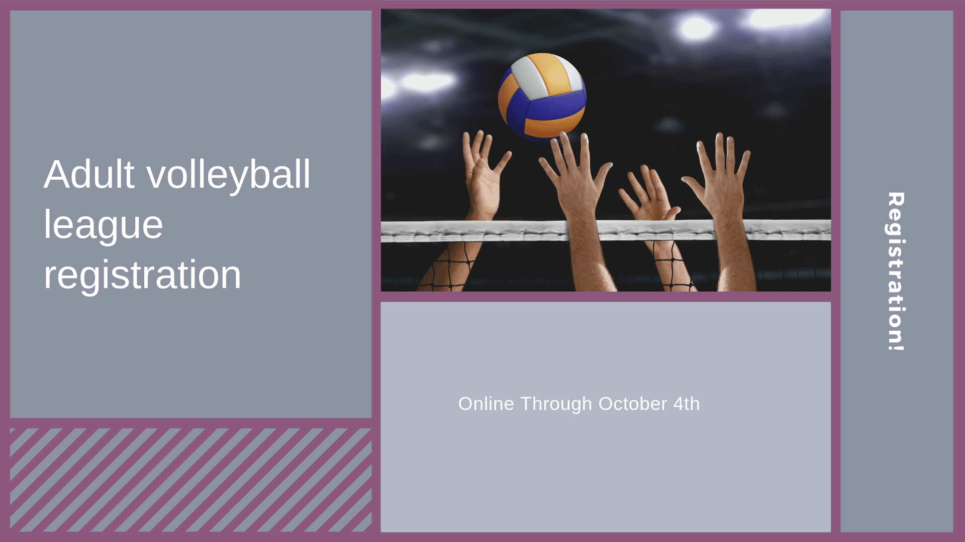 Adult volleyball league registration
