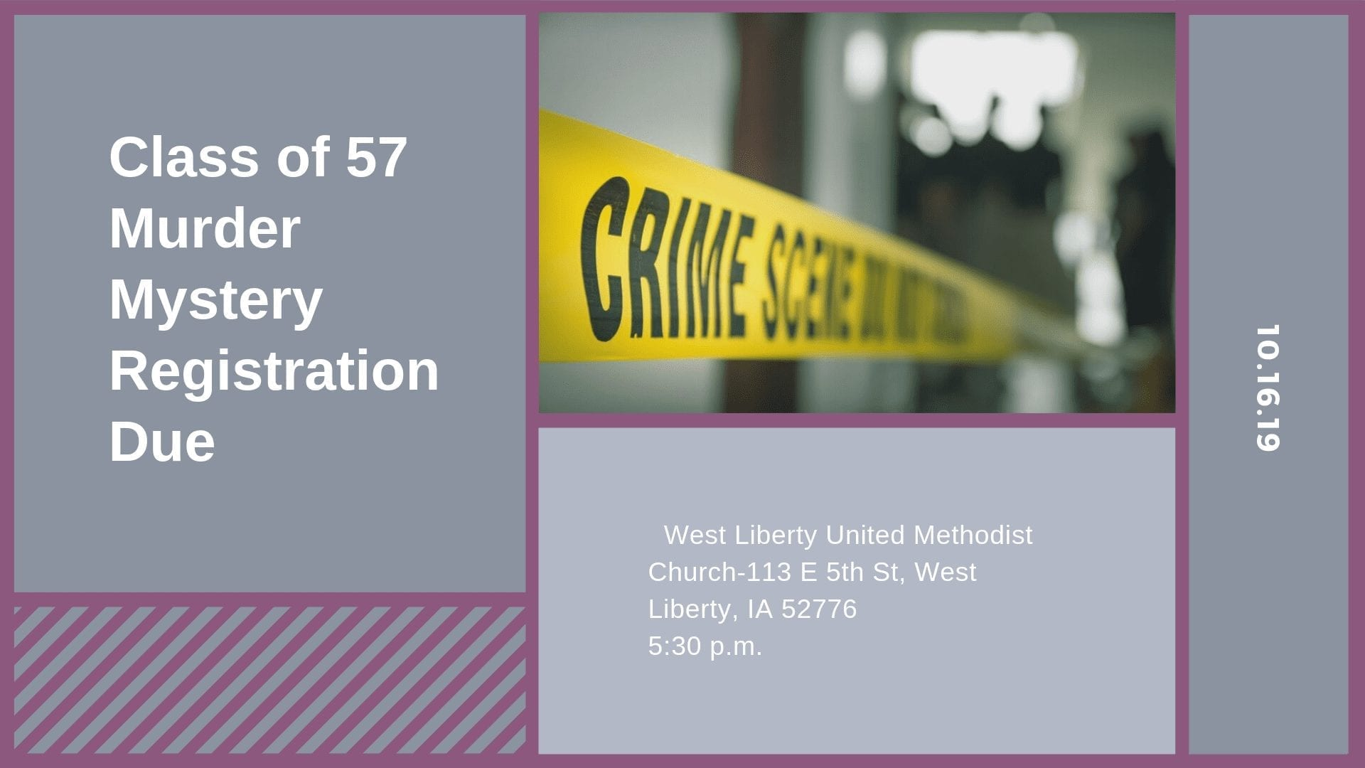Class of 57 Murder Mystery Registration Due