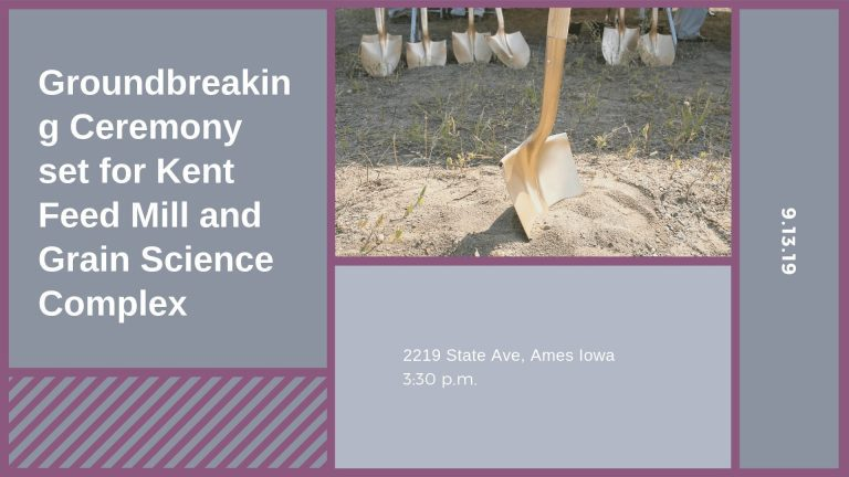 Groundbreaking Ceremony set for Kent Feed Mill and Grain Science Complex