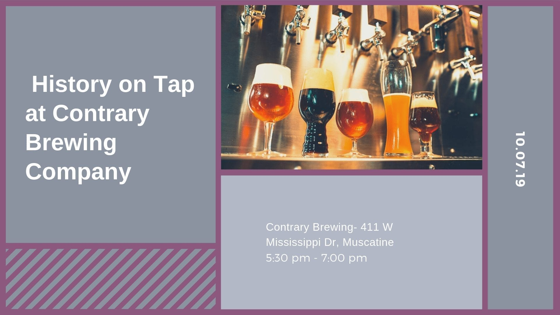 History on Tap at Contrary Brewing Company
