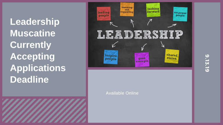 Leadership Muscatine Currently Accepting Applications Deadline