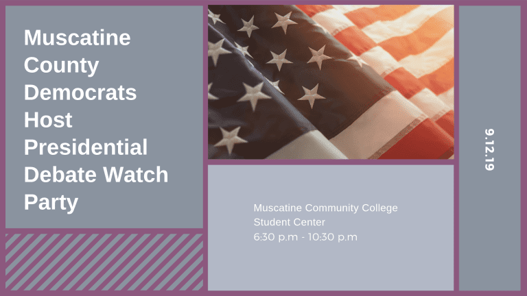 Muscatine County Democrats Host Presidential Debate Watch Party