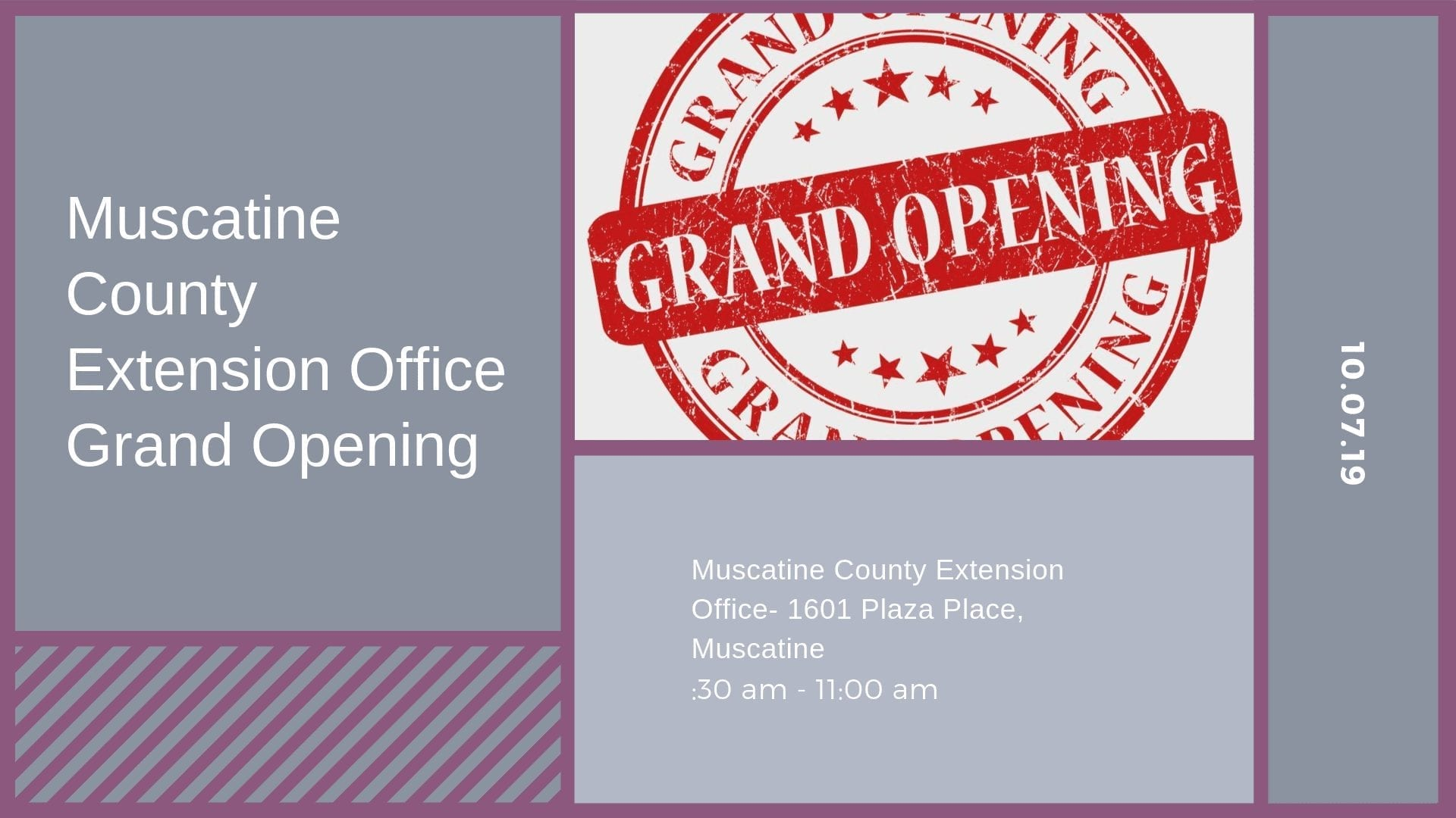 Muscatine County Extension Office Grand Opening