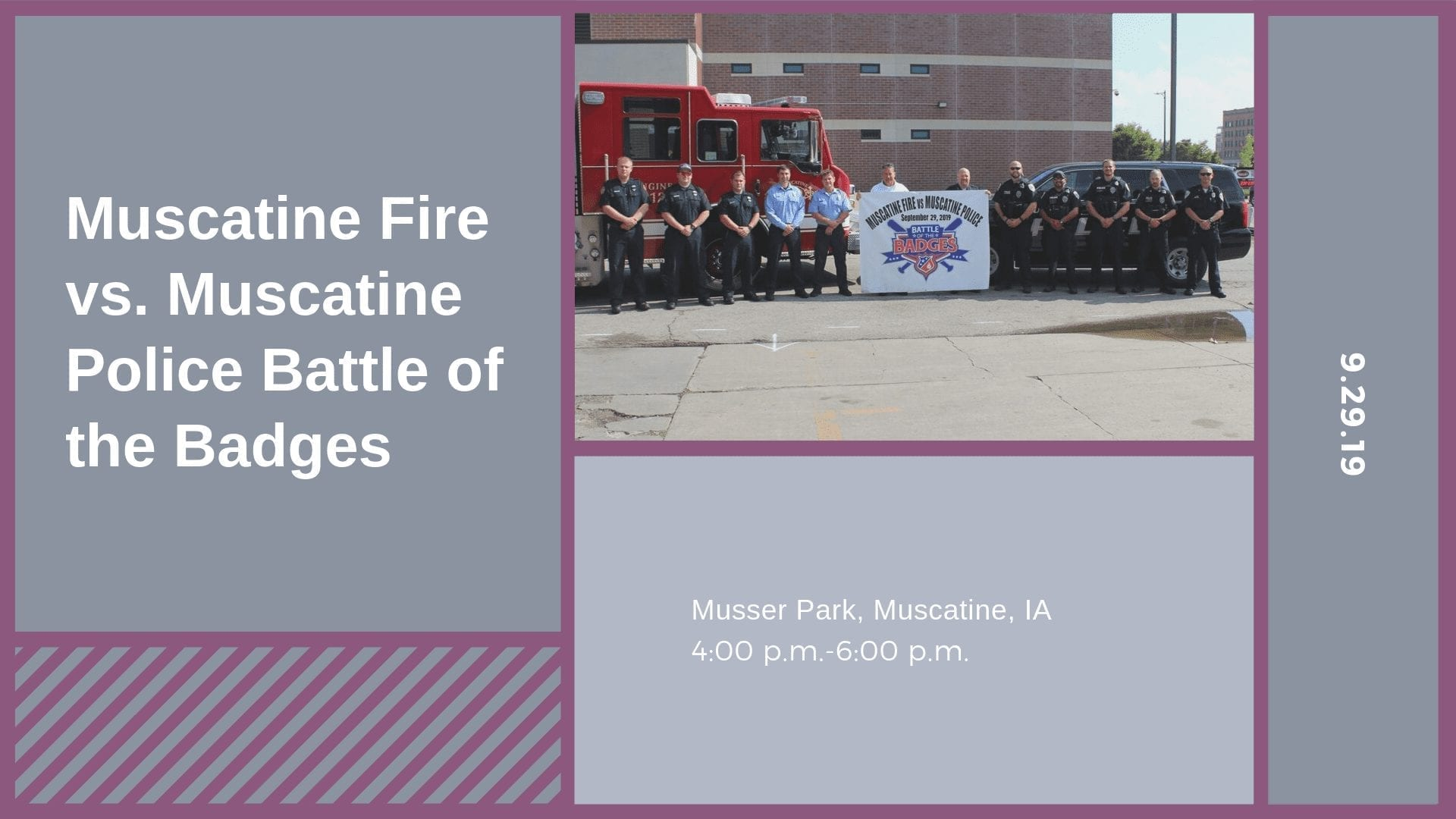 Muscatine Fire vs. Muscatine Police Battle of the Badges