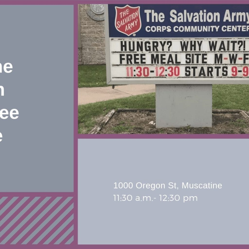 Muscatine Salvation Army Free Meal Site