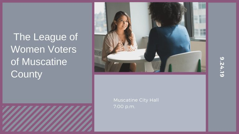 The League of Women Voters of Muscatine County