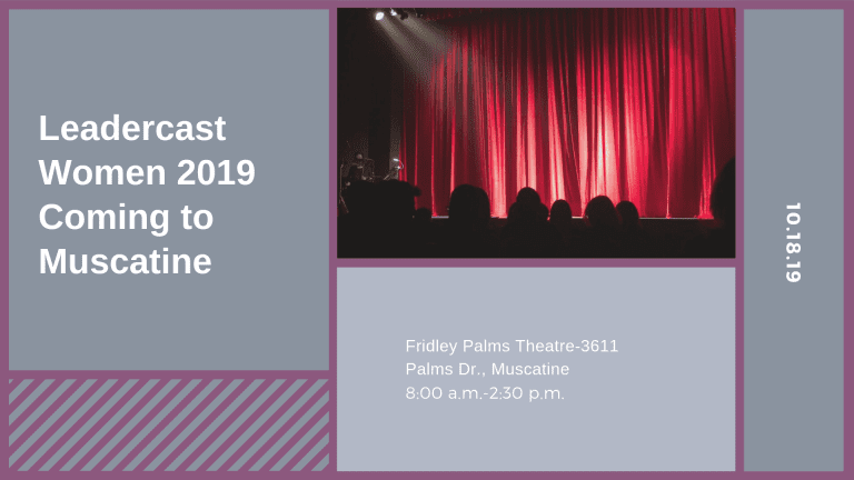 Leadercast Women 2019 Coming to Muscatine