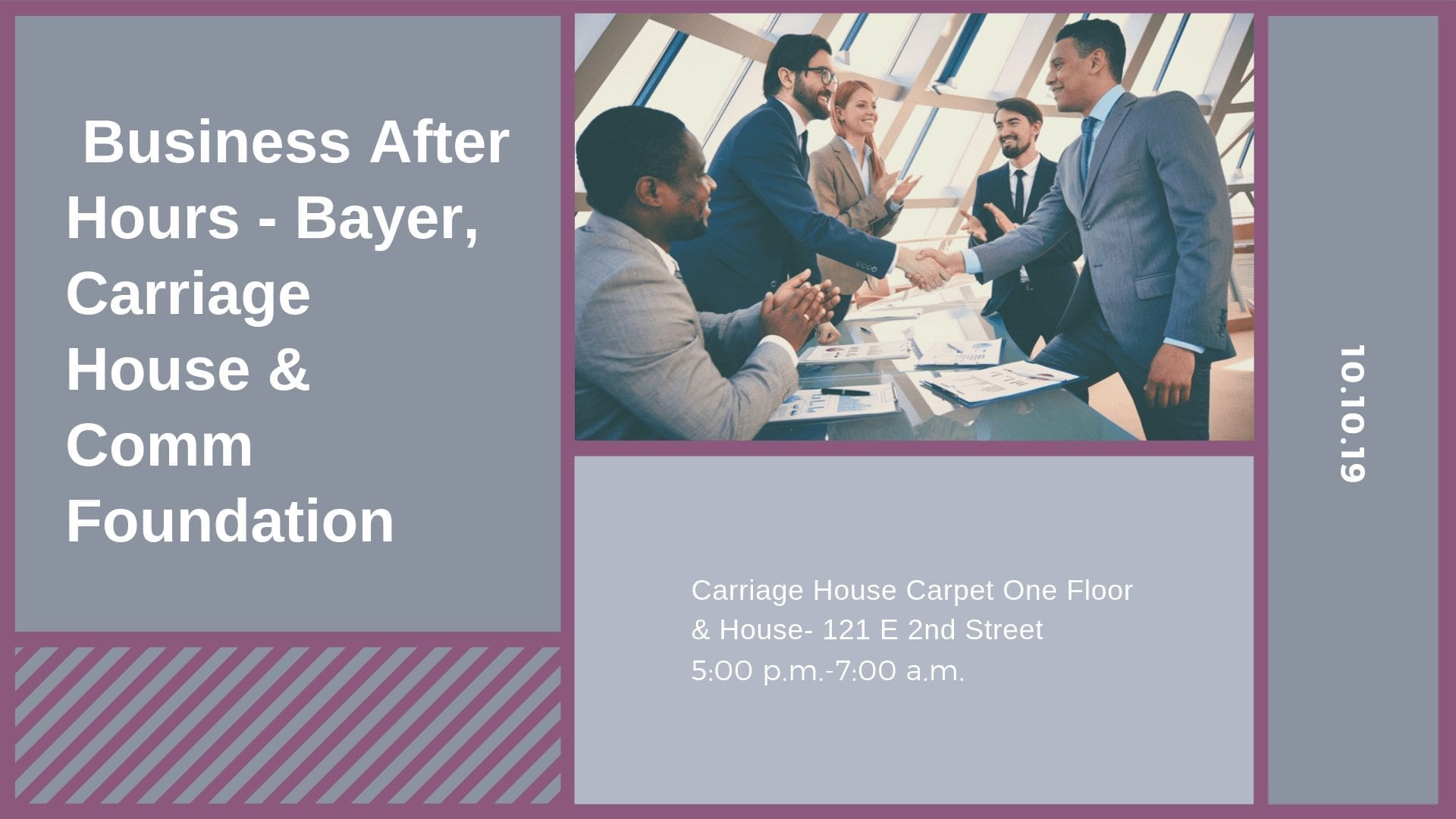 Business After Hours - Bayer, Carriage House & Comm Foundation