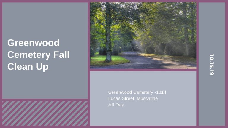Greenwood Cemetery Fall Clean Up