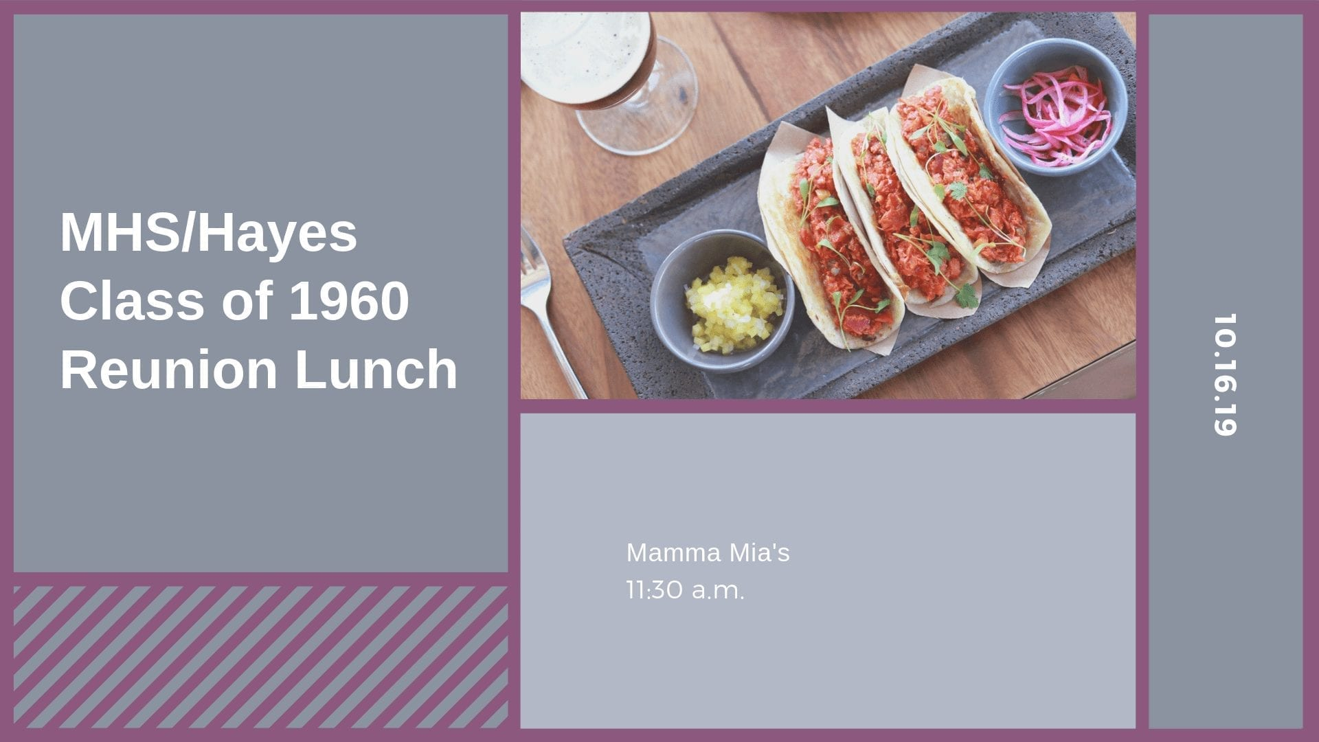 MHS/Hayes Class of 1960 Reunion Lunch