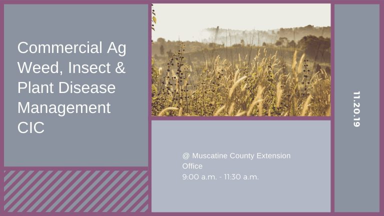 Commercial Ag Weed, Insect & Plant Disease Management CIC