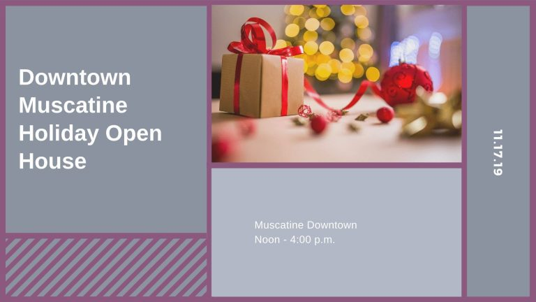 Downtown Muscatine Holiday Open House