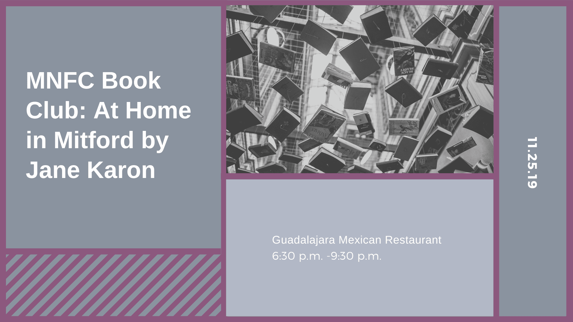 MNFC Book Club: At Home in Mitford by Jane Karon