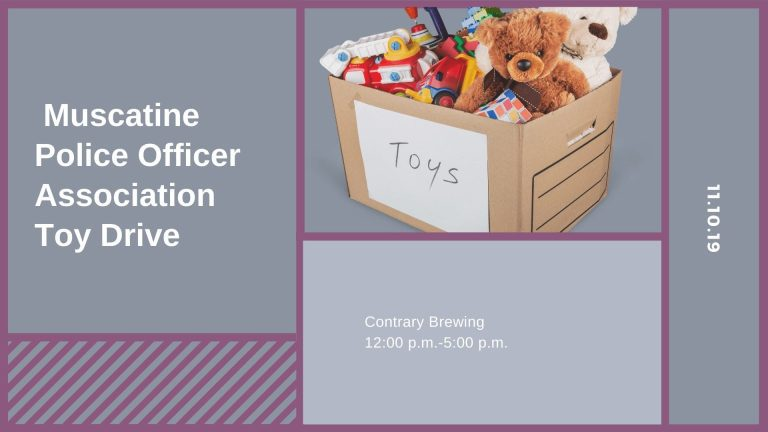 Muscatine Police Officer Association Toy Drive