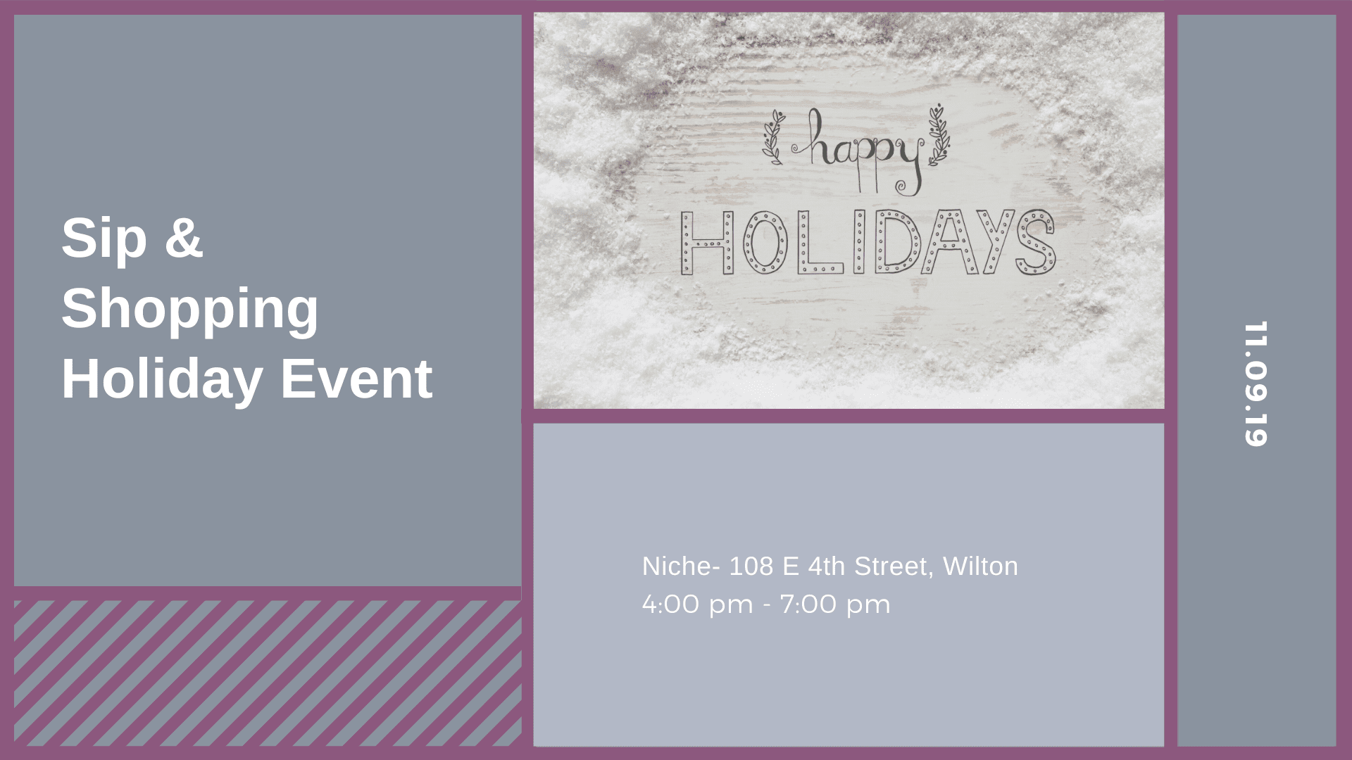 Sip & Shopping Holiday Event