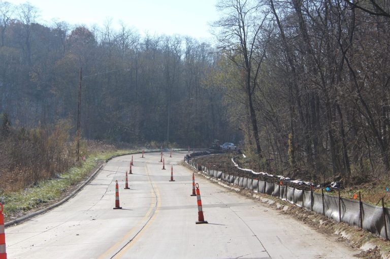 Lane restrictions put in place for Houser Hill