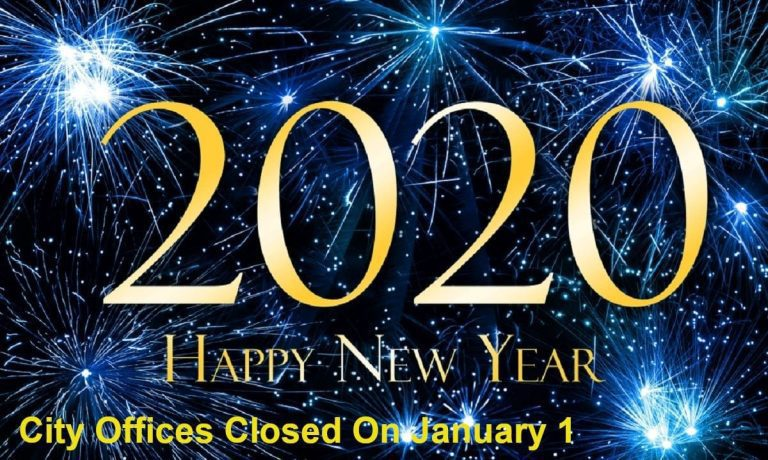 City offices closed January 1; refuse, recycling delayed