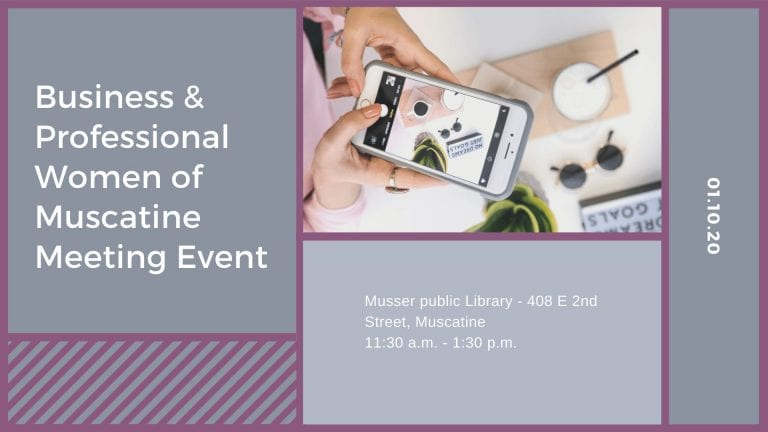 Business & Professional Women of Muscatine Meeting Event