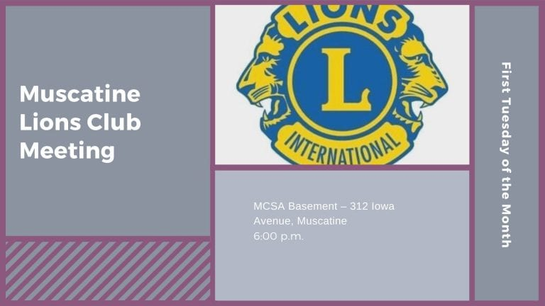 Muscatine Lions Club Meeting