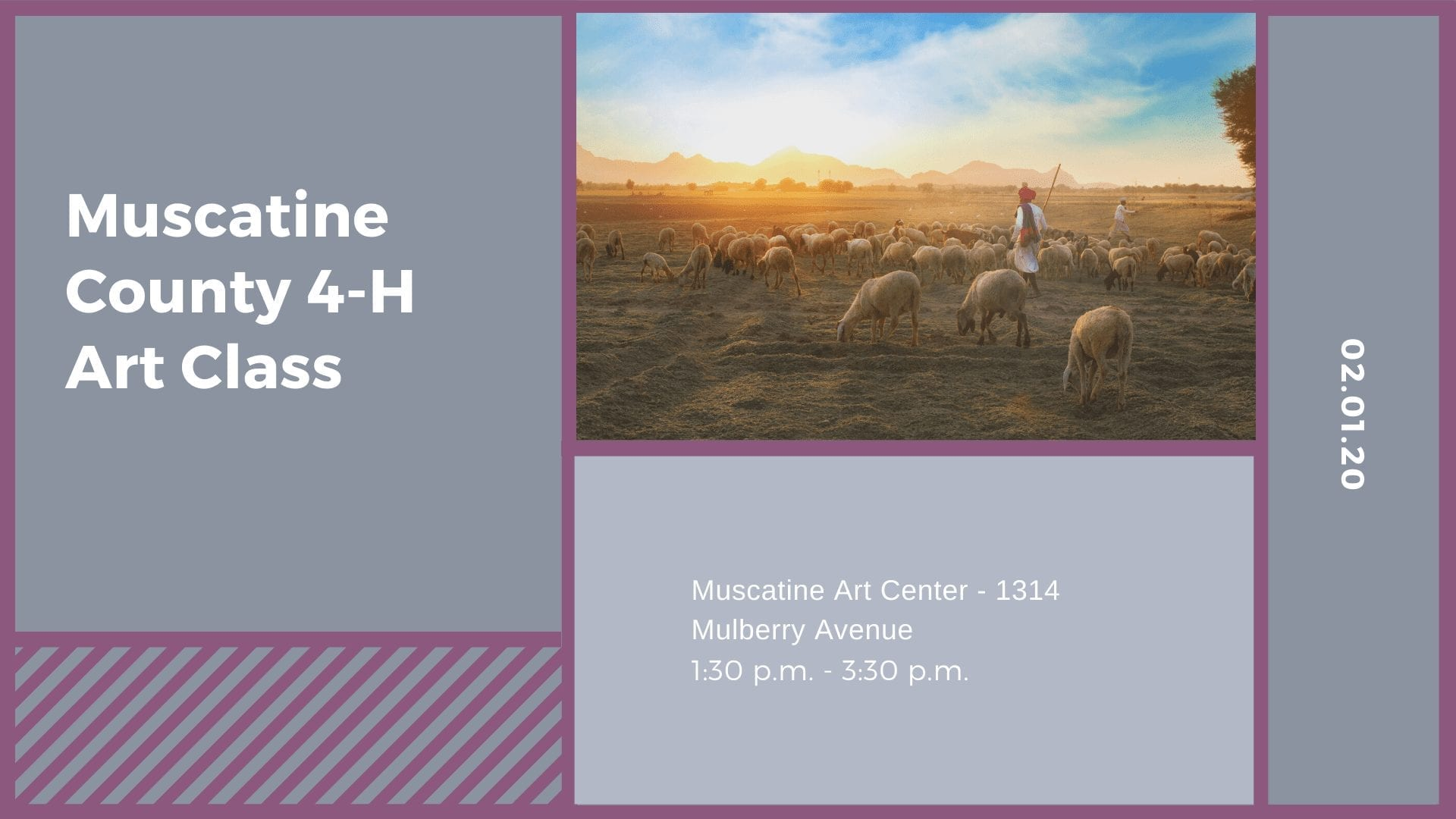Muscatine County 4-H Art Class