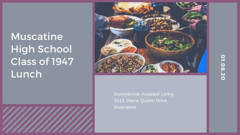 Muscatine High School Class of 1947 Lunch