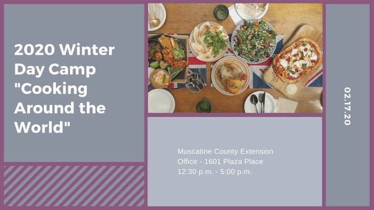 """2020 Winter Day Camp """"Cooking Around the World"""""""