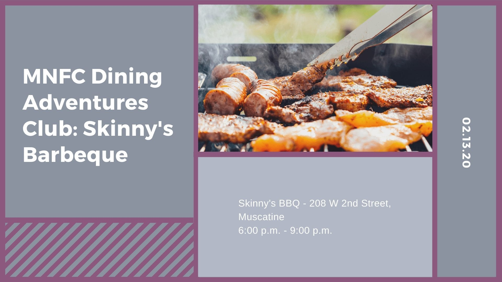 MNFC Dining Adventures Club: Skinny's Barbeque