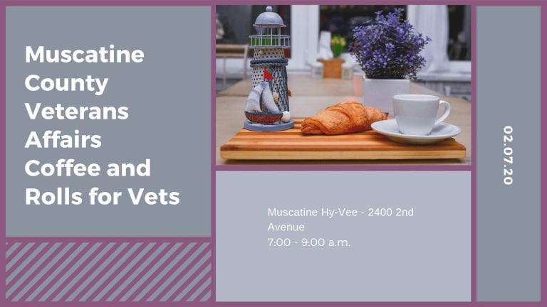 Muscatine County Veterans Affairs Coffee and Rolls for Vets