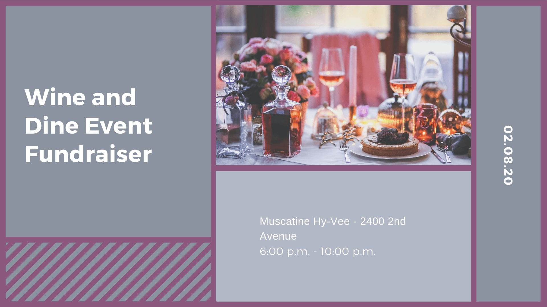 Wine and Dine Event Fundraiser