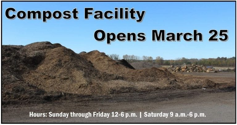 Compost Facility opens for the season on March 25