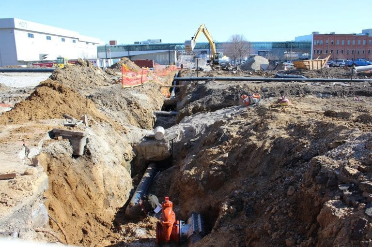 Roundabout project keeps digging along