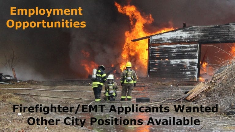 City seeks applicants for firefighter, several other positions