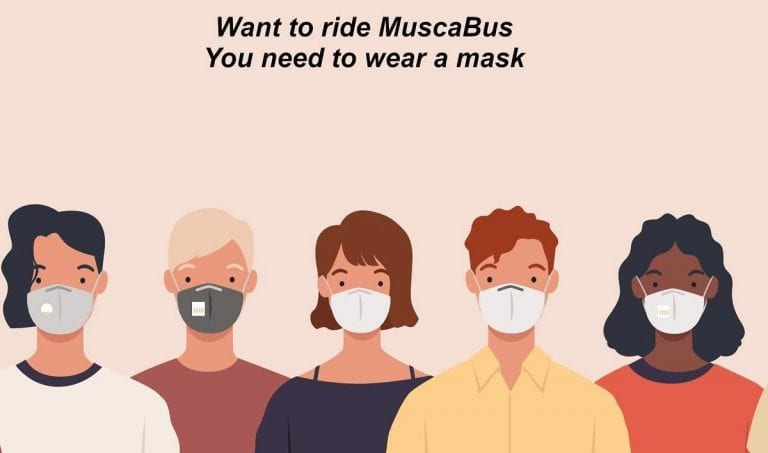 City to require face masks for riders of MuscaBus