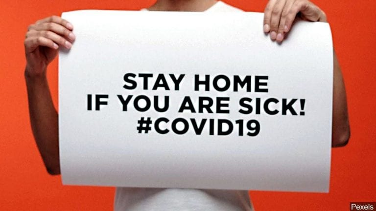 Public Health reminds citizens to stay at home if you are sick