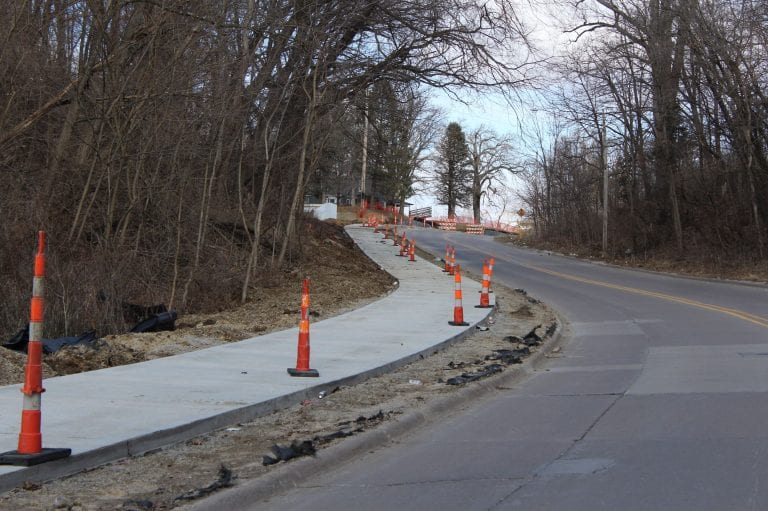 Work on construction projects continue in Muscatine