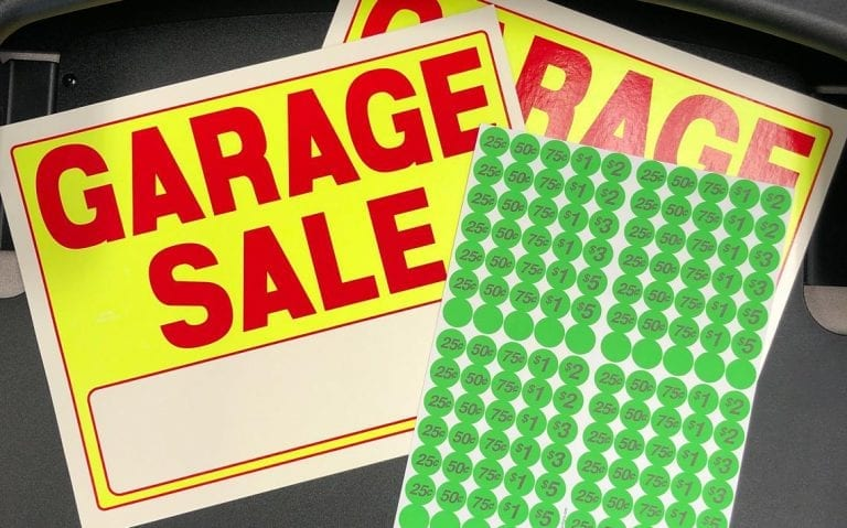 Garage Sales are on but there are guidelines to follow