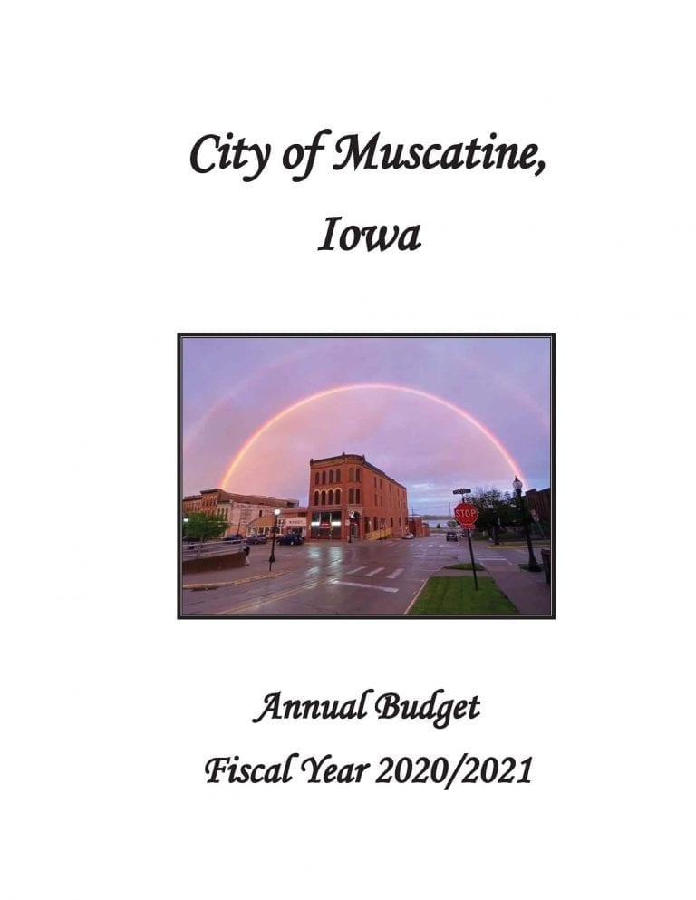 City of Muscatine FY 2020-2021 budget available to view