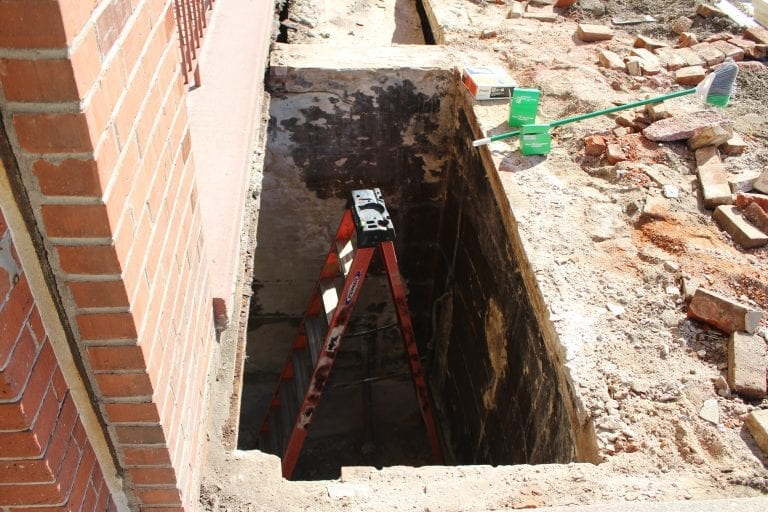 Solution works for exposed Batterson Building basement