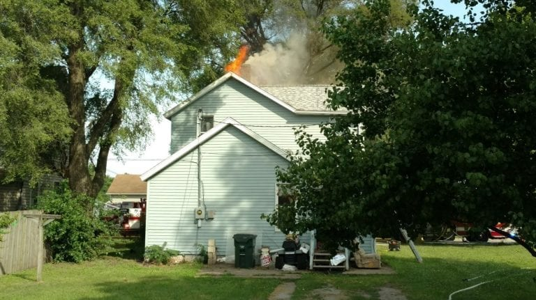 Muscatine woman rescued from burning home Tuesday