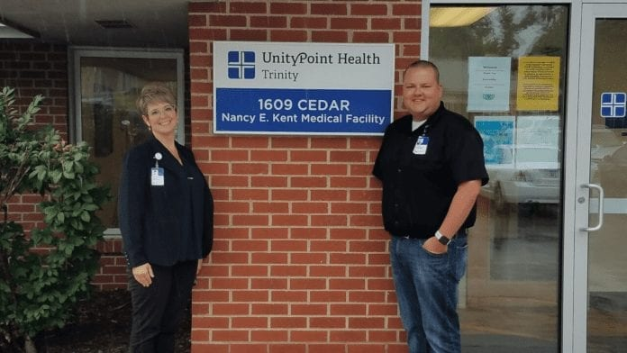 Trinity Muscatine Public Health Directory Christy Roby Williams and economic navigator Tyler Baars recently collaborated with the Trinity Muscatine Foundation to get a $900,000 HSAR