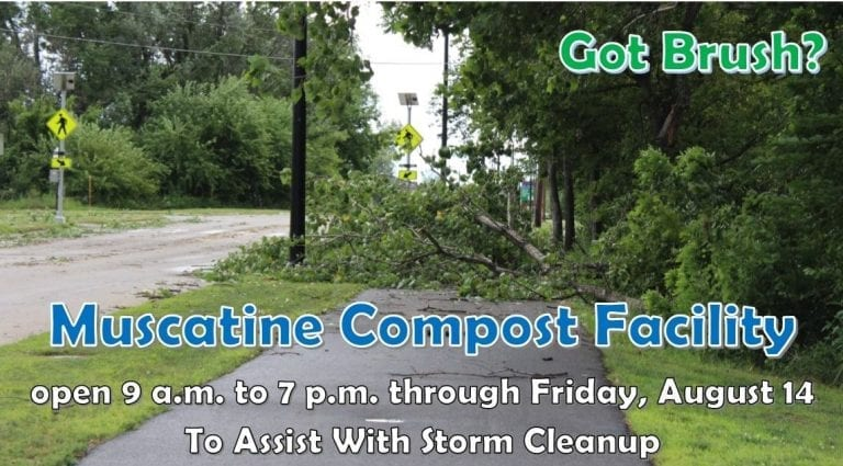Extended hours for Compost Facility through Friday, Aug. 14