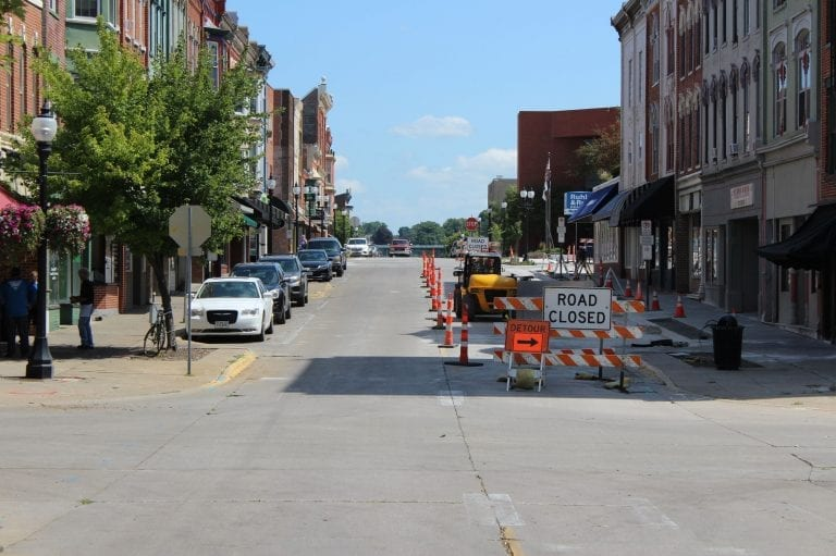 Lane closure changing August 17 on East 2nd Street