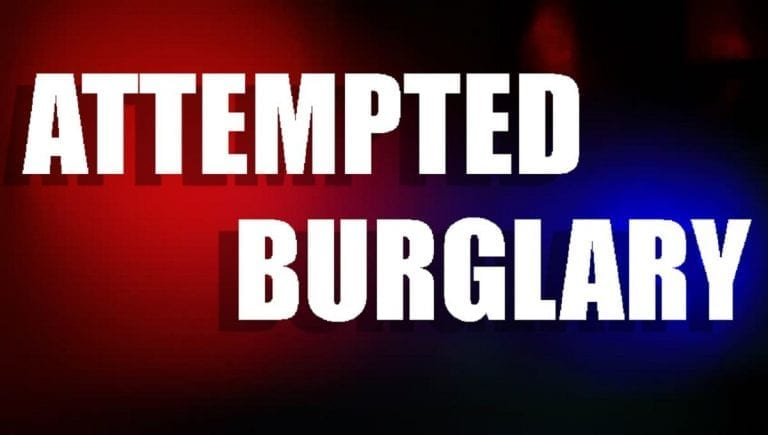 Attempted burglary reported; police urge residents to stay vigilant