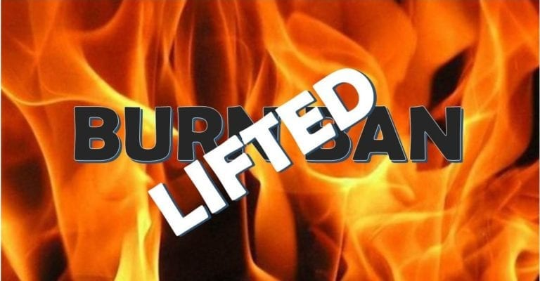 Burn Ban is lifted for Muscatine County