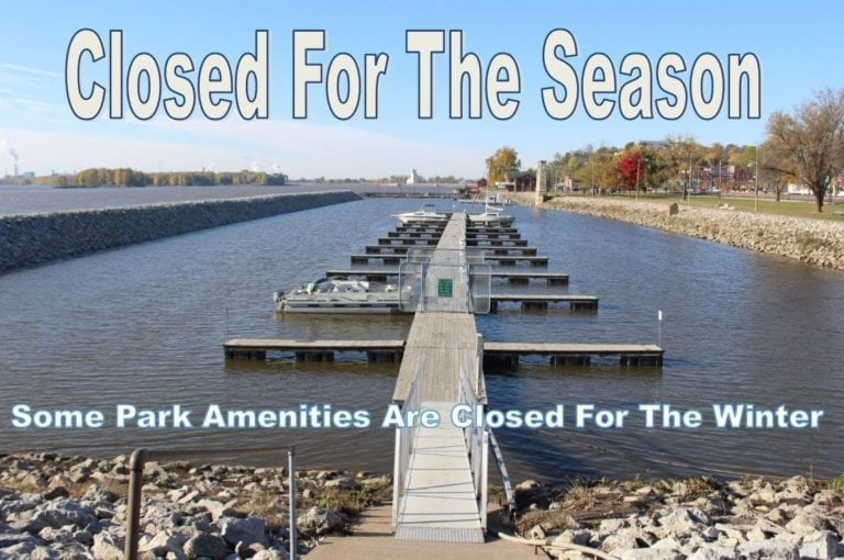 Some park amenities are now closed for the winter