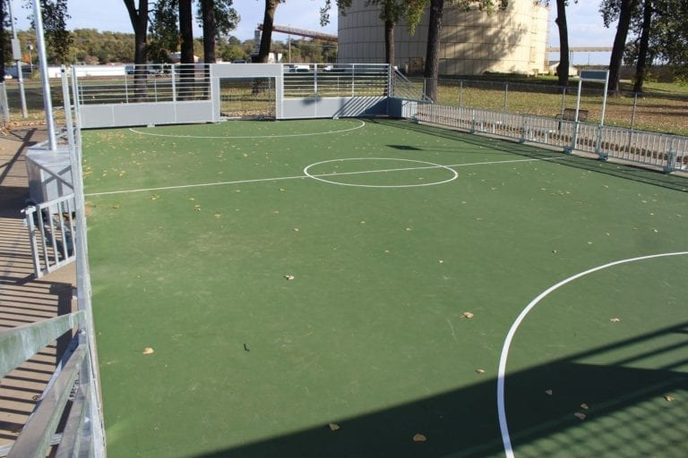 Mini Pitch ready for play; fund set up to add Muscatine flag to center circle